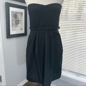 BCBGMaxazria black strapless dress size large